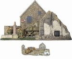 D-Day Surrender Set #1 - Sherman Tank, Three Figures and Diorama Base