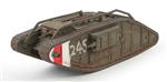 "British Mark IV Female Heavy Tank - #245, ""White-Red-White"", Ashford, Kent, England"