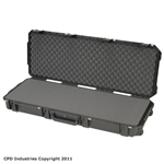 SKB injection molded 3I-4214-5B-L case comes with solid layered foam.