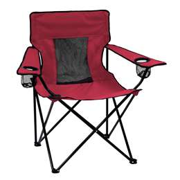 Plain Garnet   Elite Folding Chair with Carry Bag