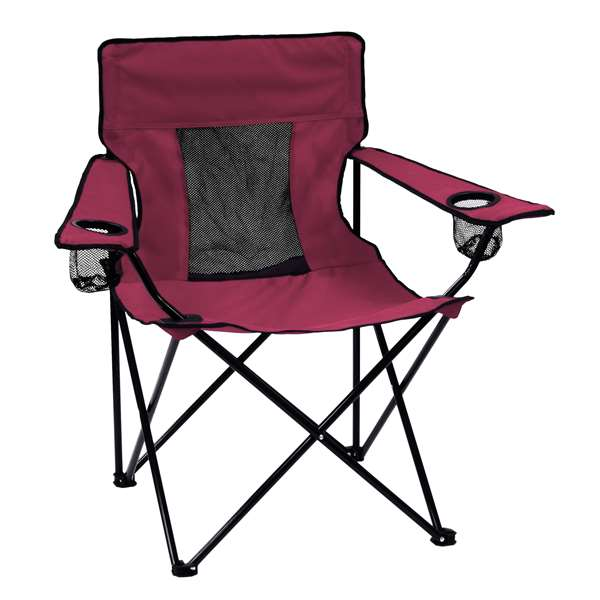Plain Maroon Elite Chair Folding Tailgate Camping Chairs