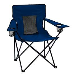 Plain Navy   Elite Folding Chair with Carry Bag