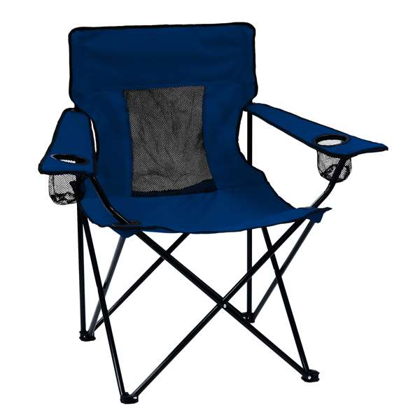 Plain Navy Elite Chair Folding Tailgate Camping Chairs