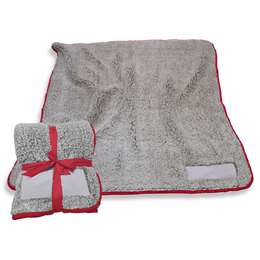 "Cardinal Frosty Fleece Blanket 60"" X 50"""