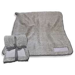 "Charcoal Frosty Fleece Blanket 60"" X 50"""