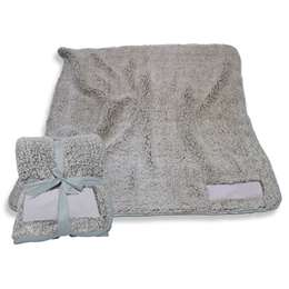 "Gray Frosty Fleece Blanket 60"" X 50"""