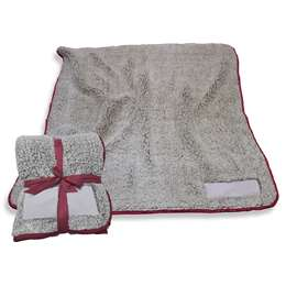 "Maroon Frosty Fleece Blanket 60"" X 50"""