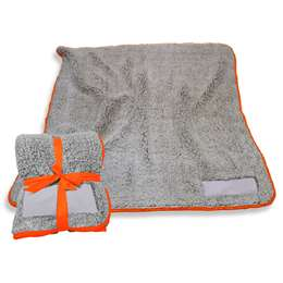 "Orange Frosty Fleece Blanket 60"" X 50"""