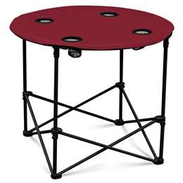 Garnet Round Folding Table with Carry Bag