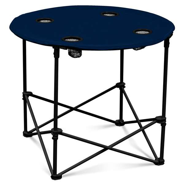 Navy Round Folding Table with Carry Bag