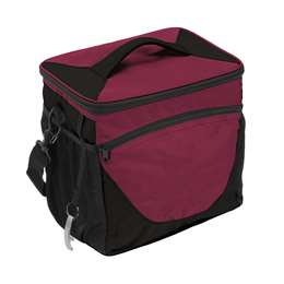 Plain Maroon 24 Can Cooler