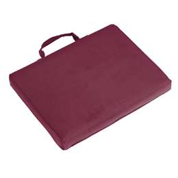 Plain Maroon  Bleacher Cushion Stadium Seat