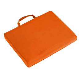 Plain Orange  Bleacher Cushion Stadium Seat