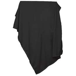 Plain Black Sweatshirt Blanket