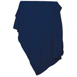 Plain Navy Sweatshirt Blanket