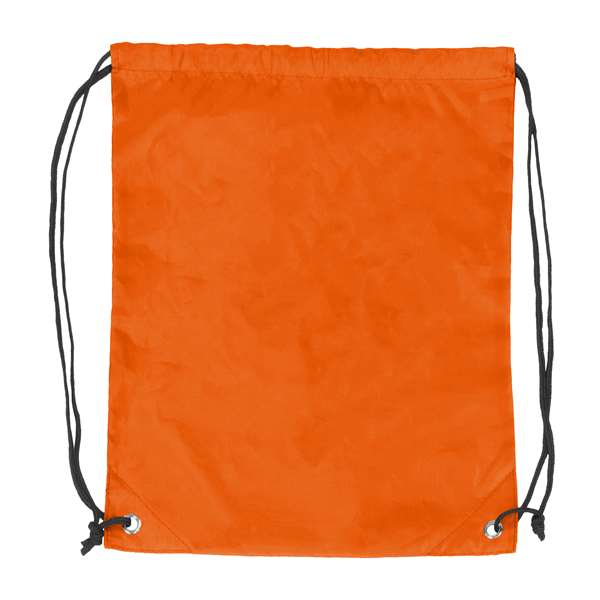 Plain Orange Cruise Backsack 87D - Dbl Head Strin