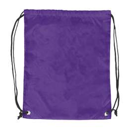 Plain Purple  DoubleHeader Backsack String Bag