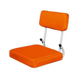 Plain Orange Hard Back SS 94 - Hardback Seat