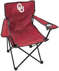 University of Oklahoma Sooners Gameday Elite Chair with Matching Carry Bag 00563044111