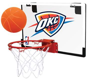 Oklahoma City Thunder Basketball Hoop Set Indoor Goal