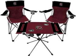 University of South Carolina Gamecocks Tailgate Kit - 2 Chairs and 1 Table