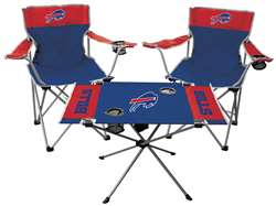 NFL Buffalo Bills  3 Piece Tailgate Kit - 2 Chairs - 1 Table