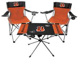 NFL Cincinnati Bengals  3 Piece Tailgate Kit - 2 Chairs - 1 Table