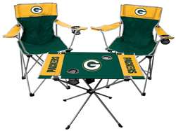 NFL Green Bay Packers  3 Piece Tailgate Kit - 2 Chairs - 1 Table