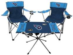 NFL Tennessee Titans  3 Piece Tailgate Kit - 2 Chairs - 1 Table