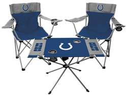 NFL Indianapolis Colts  3 Piece Tailgate Kit - 2 Chairs - 1 Table
