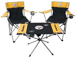 Pittsburgh Steelers Tailgate Kit 2 Chairs - 1 Table