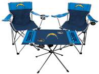 Los Angeles Chargers Tailgate Kit - 2 Chairs and 1 Table