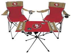 San Francisco 49ers Tailgate Kit 2 Chairs - 1 Table