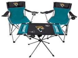 Jacksonville Jaguars Tailgate Kit - 2 Chairs and 1 Table