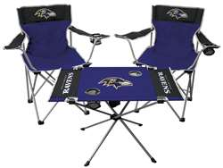 Baltimore Ravens Tailgate Kit 2 Chairs - 1 Table