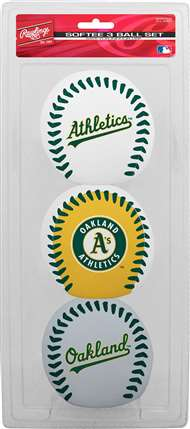 Oakland Athletics Softee Baseball Set - 3 Pack
