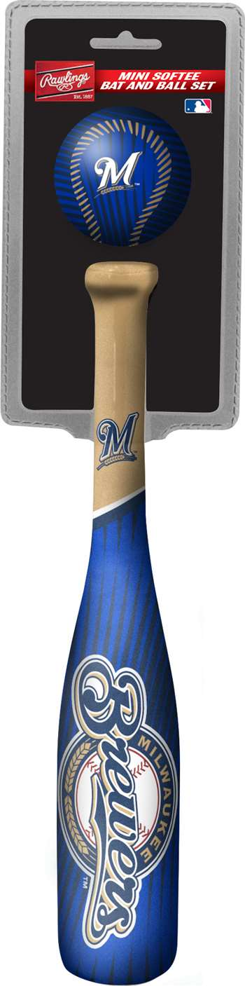 Milwaukee Brewers Mini Slugger Mini Bat & Ball Set