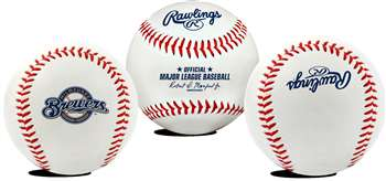 Milwaukee Brewers  Rawlings Team Logo Baseball
