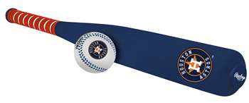 Houston Astros Foam Softee Baseball Bat and Ball