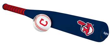 Cleveland Indians Foam Softee Baseball Bat and Ball