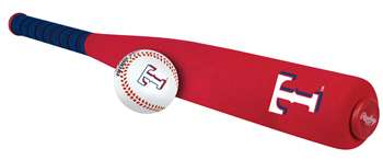 Texas Rangers Foam Softee Baseball Bat and Ball