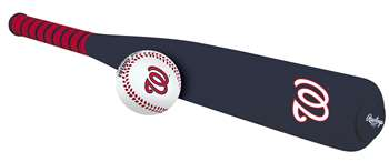 MLB Washington Nationals Foam Baseball Bat & Ball Set