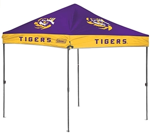 Louisiana State University LSU Tigers 10 x 10 Straight Leg Canopy with Carry Bag - Rawlings