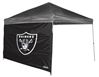 Oakland Raiders 10 X 10 Straight Leg Shelter Wall for Coleman
