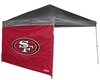 San Francisco 49ers 10 X 10 Straight Leg Shelter Wall for Coleman
