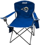 Los Angeles Rams   Cooler Quad Chair - Coleman - Folding Tailgate