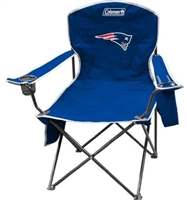 New England Patriots Cooler Quad Folding Chair