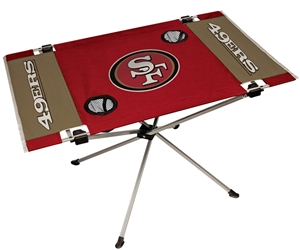 San Francisco 49ers Endzone Folding Tailgate Table
