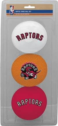 NBA Toronto Raptors Three Point Shot Softee Basketball 3-Ball Set