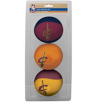 NBA Cleveland Cavaliers Three Point Shot Softee Basketball 3-Ball Set